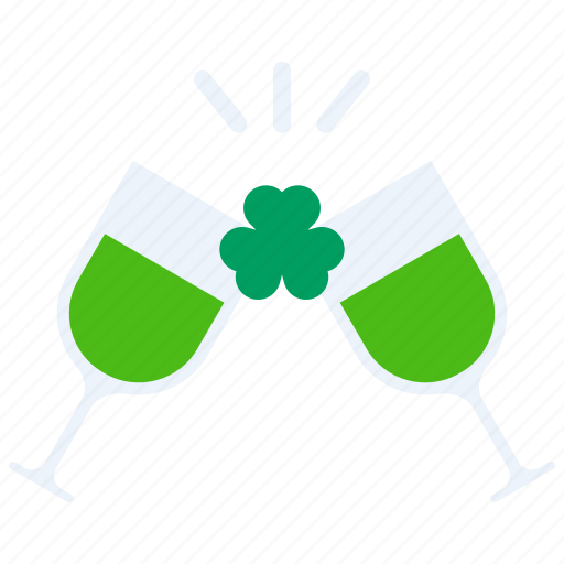 Celebrate, cheers, day, party, patricks, saint, wine icon - Download on Iconfinder