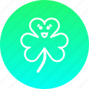 clover, day, festival, patricks, saint, shamrock, three icon