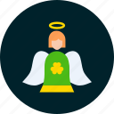 angel, day, fairy, holy, patricks, saint icon