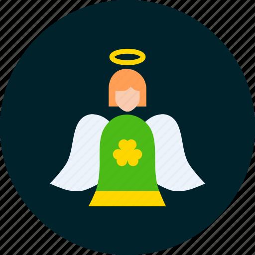 angel, day, fairy, holy, patricks, saint icon