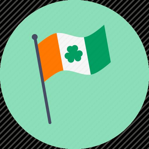 day, festival, flag, irish, patricks, saint, shamrock icon