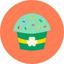 cake, celebrate, day, festival, muffin, patricks, saint icon