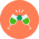 celebrate, cheers, day, party, patricks, saint, wine icon