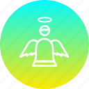angel, christmas, easter, fairy, holy, spirit icon
