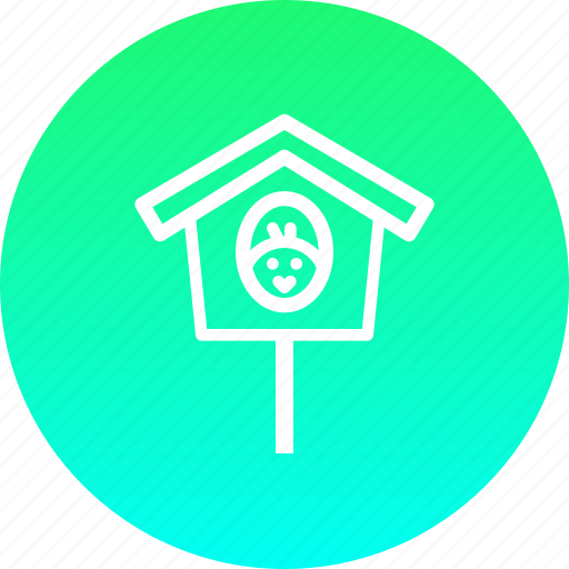 birdhouse, chicken, chickling, easter, home, nest icon