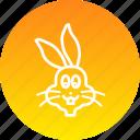 animal, bunny, cute, easter, rabbit icon