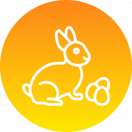 bunny, easter, eggs, paschal, play, rabbit icon