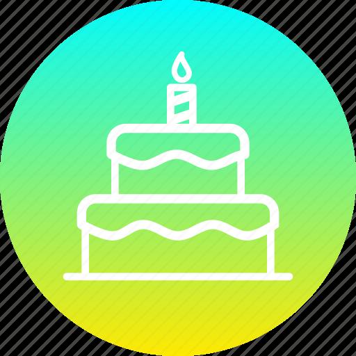 birthday, cake, candle, celebration, christmas, easter, festival icon