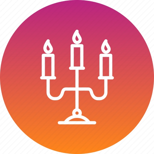 candelabra, candle, christmas, easter, light icon