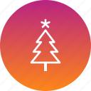 christmas, decoration, easter, star, tree icon
