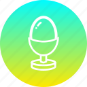 boiled, easter, egg, food, meal icon