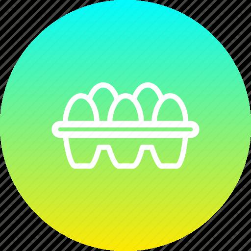box, easter, egg, eggs, food, score icon