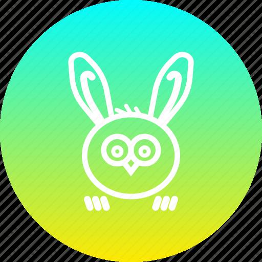 bunny, ears, easter, owl, rabbit icon