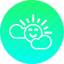 easter, happy, season, spring, sun, weather icon