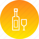 bottle, celebrate, celebration, drink, glass, wine icon