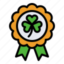 award, badge, festival, ireland, saint patrick, shamrock icon