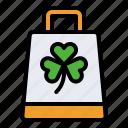 bag, festival, ireland, saint patrick, shamrock, shopping icon