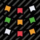 celebration, confetti, festival, flag, holiday, party icon