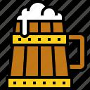 beer, beer mug, beverage, alcoholic icon