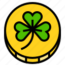 coin, ireland, irish, money, shamrock icon
