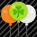 balloon, celebrate, ireland, irish, party, saint patrick icon