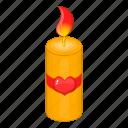 candle, day, valentine, valentines icon