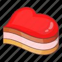 cake, heart, love, shape icon