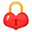 heart, lock, love, shape icon
