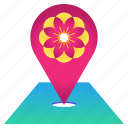 blossom, cherry, festival, flower, location, pin, sakura icon