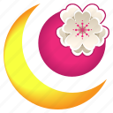 blossom, cherry, festival, flower, moon, night, sakura icon