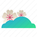 blossom, cherry, clouds, festival, flower, sakura, weather icon
