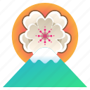 blossom, cherry, festival, flower, japan, mount fuji, sakura icon