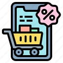 mobile, shopping, cart, online, discount, sales