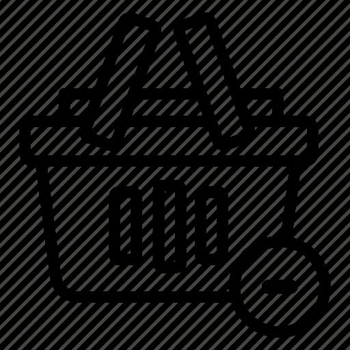 bag, item, online, remove, sales, shop, shopping icon