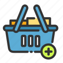 add, basket, cart, online, sales, shop, shopping icon