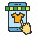 choosing, item, online, product, sales, shop, smartphone icon