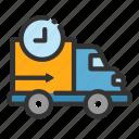 cargo, delivery, online, process, sales, shop, van