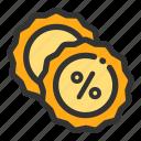 discount, label, online, sales, shop icon