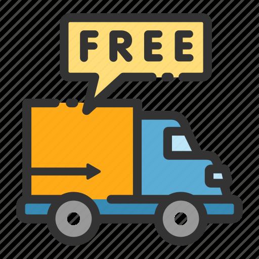 car courier delivery free sales shop van icon