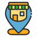 location, online, pin, sales, shop, store icon