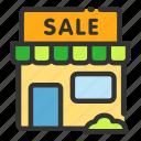 offline, online, sale, sales, shop, store icon