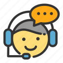 customer, online, sales, service, shop, talking icon