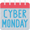 calendar, cyber, cyber monday, date, monday, sales icon