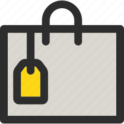 bag, big, sale, shop, shopping, tag, tagged icon