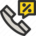 call, discount, phone, sale, service, shopping, support icon