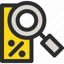 discount, explore, find, magnifier, offer, sales icon