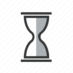 clock, duration, hourglass, period, sand, time, timeframe, timer, wait icon