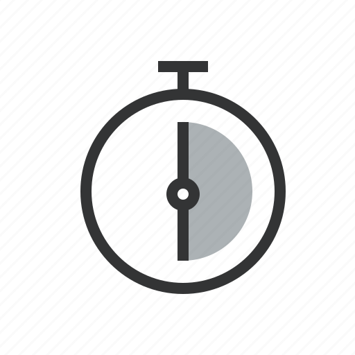 clock, duration, half, hour, minutes, past, period, schedule, second, thirty icon