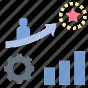achievement, incentive, motivate, reward, target icon