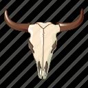 abstract, cartoon, cow, logo, skull, tattoo, tribal
